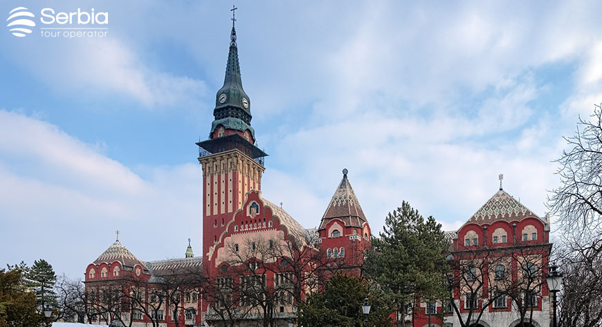 City Hall of Subotica in Hungarian Art Nouveau style, Serbia