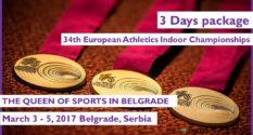 34-й Чемпионат Европы по Лёгкой Атлетике в помещении 2016 – 3-дневный Пакет
